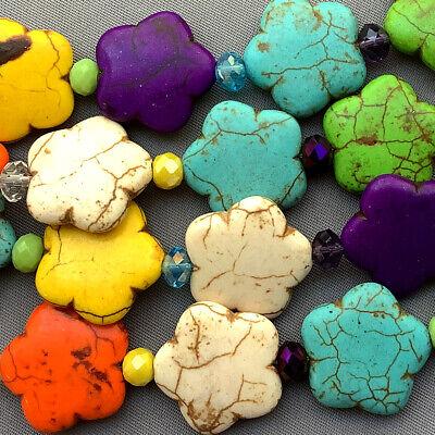 Dyed Magnesite 19mm Disco Flower Semi Precious Stone Beads Q26 Beads per Pkg