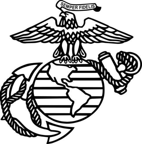 Eagle Globe and Anchor 6x6 USMC United States Marine Corps Vinyl Decal USA Vet