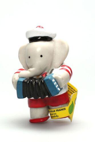 Figurine plastique Babar Arthur accordéon Plastoy