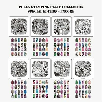 2014 PUEEN Nail Art Stamp Image Plate Special Edition Encore 01-04 Collection