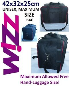 Wizz Air Small Hand Luggage Travel Cabin Bag 42x32x25cm 34 Litre Free P P Ebay