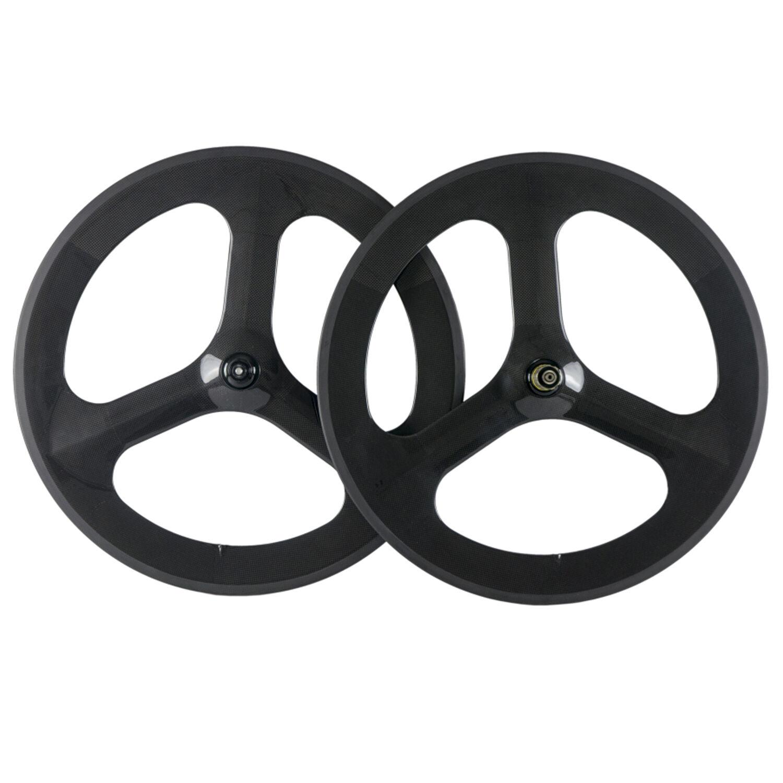 Tri Spoke 70mm Deep Tri Spoke Bike Wheels 700C Carbon Wheelset Road Bike Wheels
