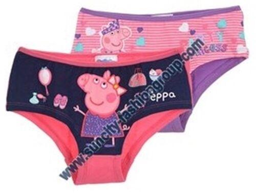2er Pack Peppa Wutz Unterwäsche 92-128 Slip Hipster Pig Mädchen Doppelpack Set
