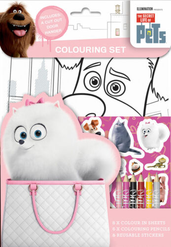 The Secret Life of Pets Colouring Set Activity Stickers Party Favour for Kids