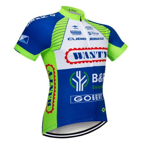 Mens Cycling Jersey Bib Short Set Biking Jersey Short Sleeve Support Bibs Shorts
