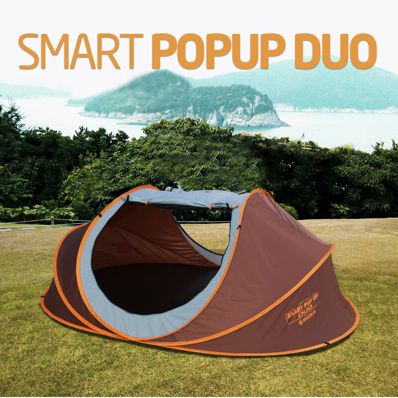 GREEN B - Smart Pop-up Duo Easy Setup tents Outdoor 4 Person Camping Hiking Tent