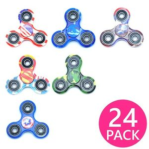 24X Lot Special Design Hand Finger Spinner Tri-Spinner Fidget Toy Ceramic