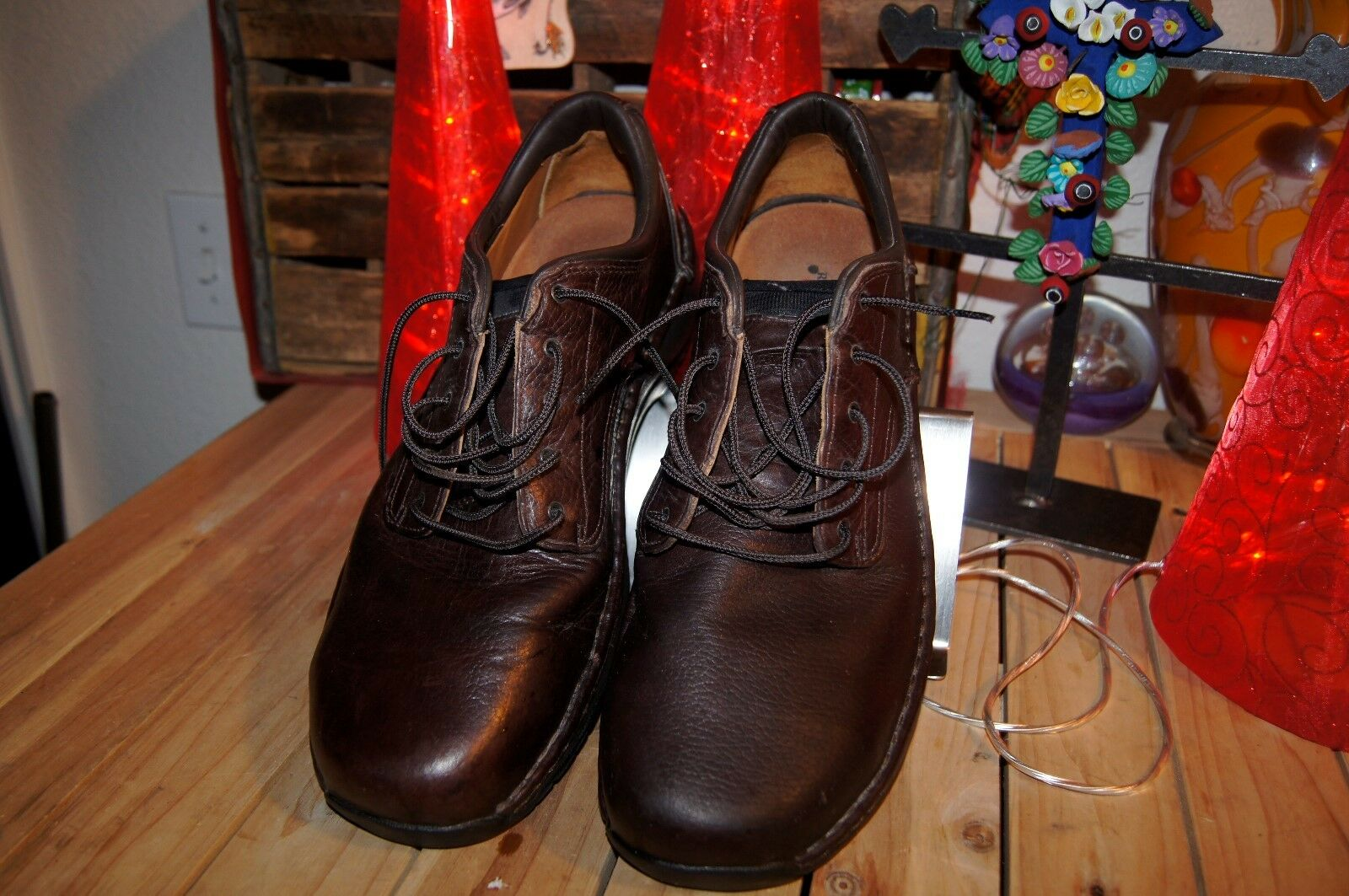 RED WING WORK SHOE SIZE13 D STEEL TOE-ELETRICAL HAZZARD STEEL STEEL STEEL TOE SHOES 13 D 11018a