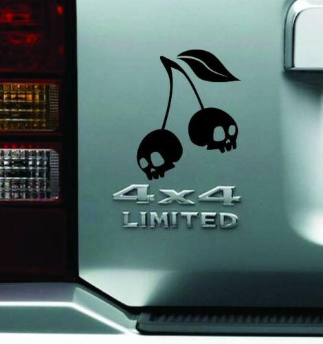 Cherry Skull Bumper Sticker Vinyl Decal Car Van Truck Auto Decal JDM Dope Decal