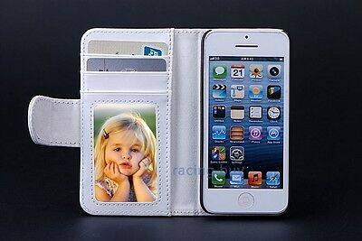 Leather Magnetic Flip Folio Card Slot Wallet Stand Purse Case Cover For iPhone