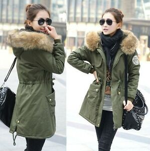 lady military parka winter warm thicken fleece trench. Black Bedroom Furniture Sets. Home Design Ideas