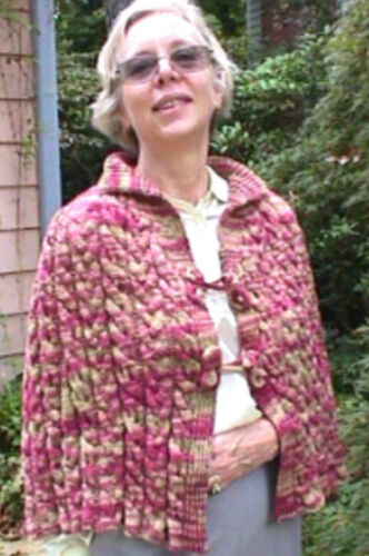 Cabled Pelerine Cape Knit PATTERN by Linda Wish