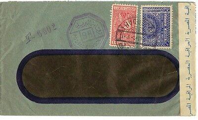 """Briefmarken Saudi-arabien 1941 Kriegszeit Zensiert Abdeckung """" Jeddah 58.4cm Frühe Seen Auf"""