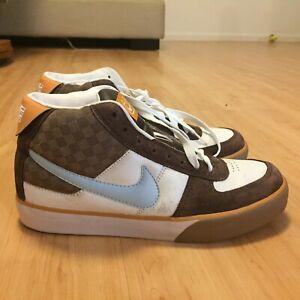 NIKE-MAVRK-6-0-SB-Brown-Blue-High-Hi-Men-Skate-Shoes-Sz-7-5-Dunk-315912-142-Run