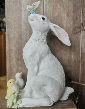 Skulptur Dekofigur Hase Deko Figur weiß Ostern Frühling H30cm Dancing Rabbit