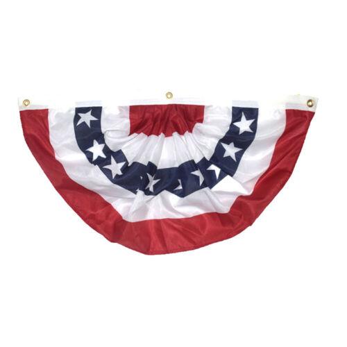6 Pack 45x90cm 3x5 USA American America U.S Bunting Fan Flag Banner Grommets