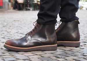 Clarks-Originals-Schuh-Modur-Hi-Dark-Tan-Echtleder-Herrenschuh-Schnuerschuh-Neu