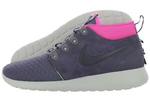 0649d0783058 New Nike Roshe Run Sneakerboot Size 10.5 Gridiron Obsidian Pink Navy ...