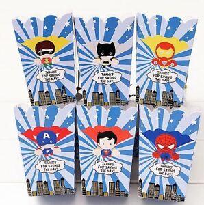 6x Disney Frozen Popcorn Box Paper Loot Lolly Bag Party Supplies Snow Anna