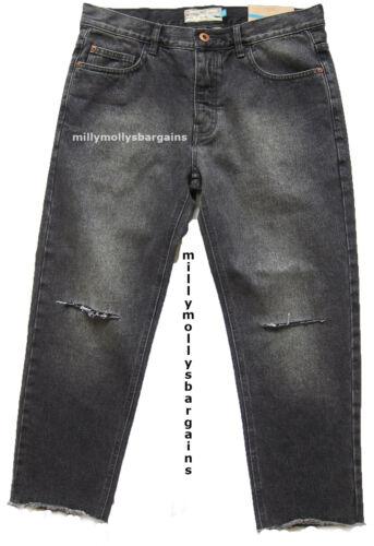 Nouveau Homme Gris Foncé Noir Slim Crop Next Jeans Taille 34 Regular L 27 £ 40 étiquette faute