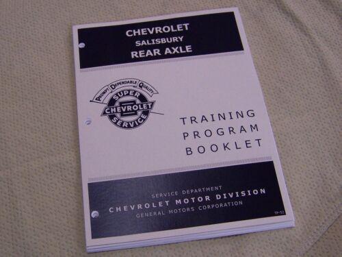 1969 Salisbury Rear Camaro Chevelle Axle GM Manual Differential bearings