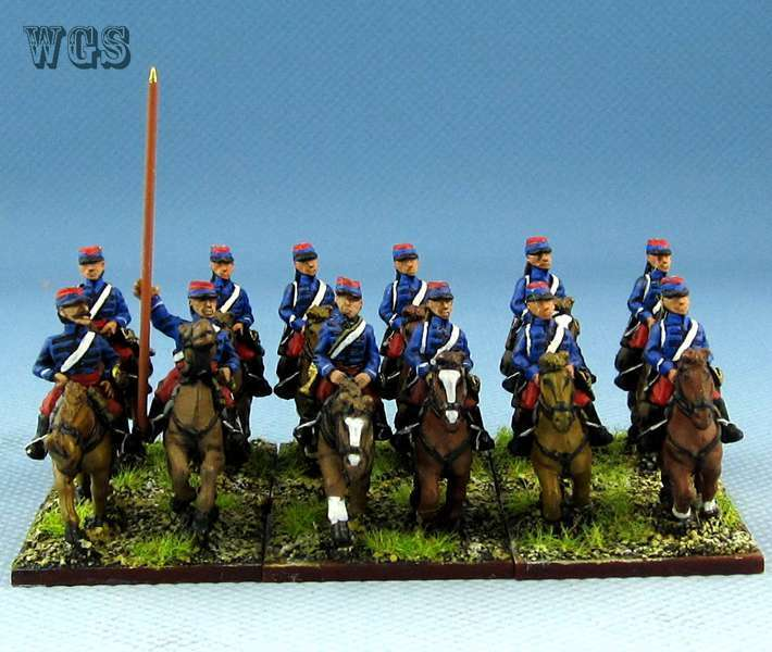 15mm Franco - Prussian War WGS painted French Chasseurs D'Afrique Legion PFA001