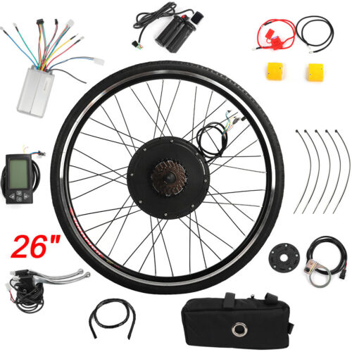 26/'/'//28/'/' E Bike 48V 1000W Umbausatz Elektrofahrrad Ebike Motor Kit Conversion