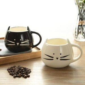 Creative-Ceramic-Cups-Cute-Cat-Shape-Coffee-Milk-Mug-Women-Men-Tea-Cup-400ml-New
