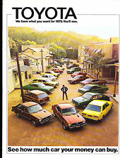 1975 Toyota Car Sales Brochure  Celica Corolla Land Cruiser Truck Corona Mark II