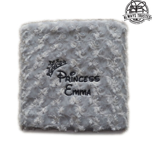 PERSONALISED BABY BLANKET EMBROIDERED SOFT FLUFFY DISNEY GIFT