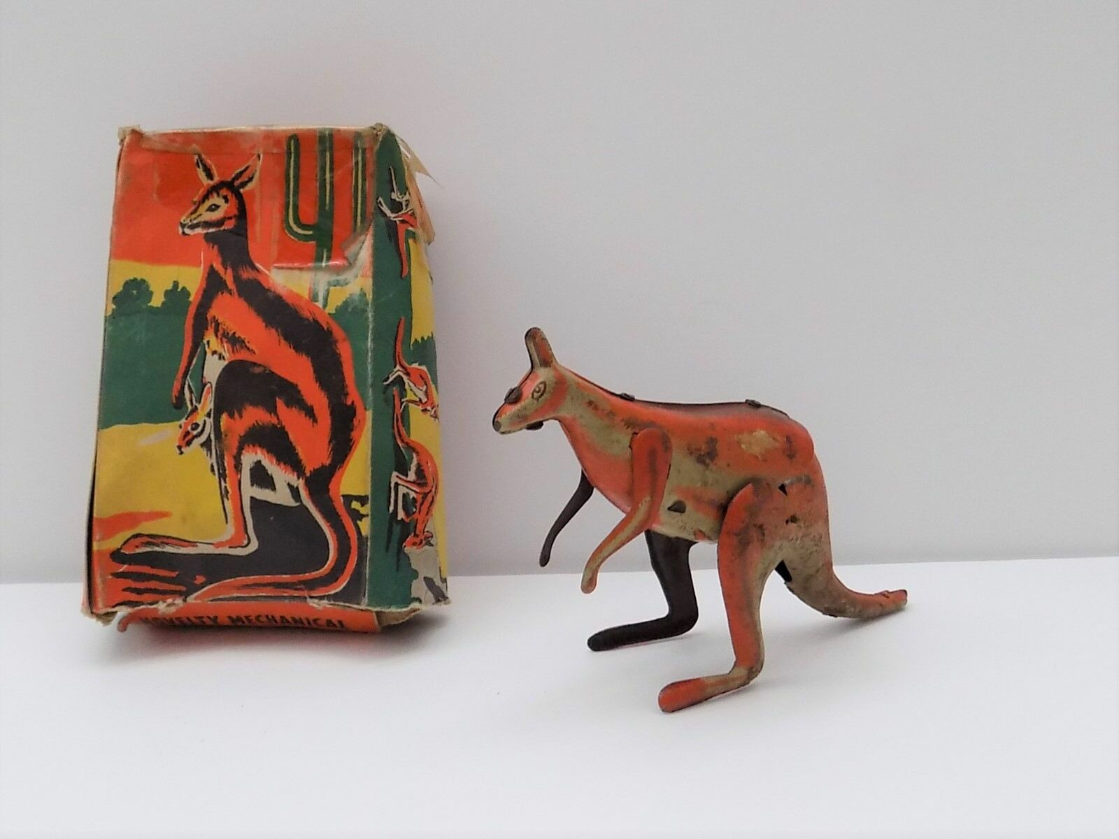 WELLS BRIMTOY NO 9 93 MECHANICAL KANGAROO BOXED VERY RARE BOXED LOFT FIND