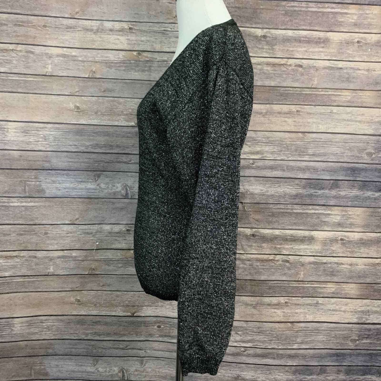 Vintage Kansai Yamamoto Black Metallic Sweater (S… - image 2