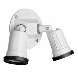Details About Red Dot Path Landscape Light Lamp Holder W 3 Hole Round Cover White S513wheg