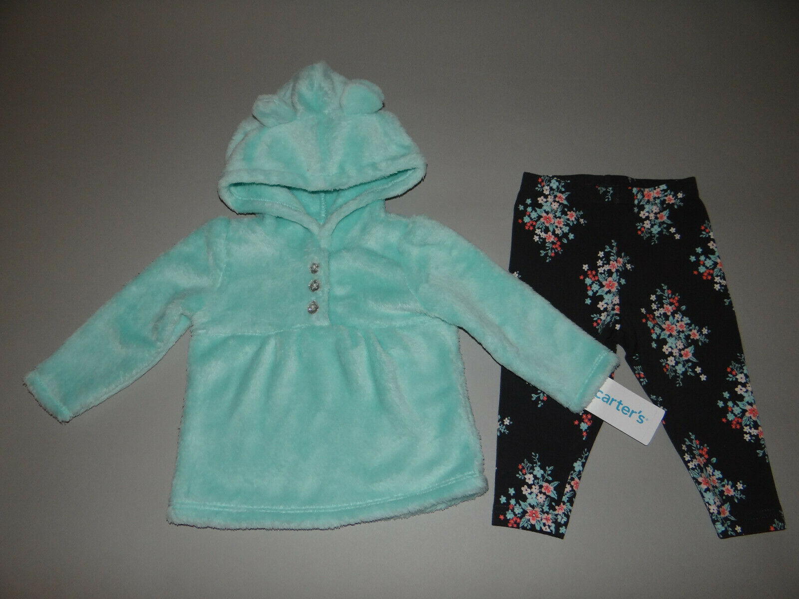 NWT, Baby girl clothes, 18 months, Carter's Fleece Set/   ~~SEE DETAILS ON SIZE~