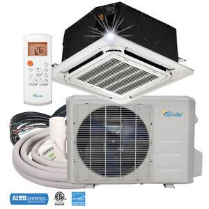 9000-BTU-Ductless-Mini-Split-Air-Conditioner-Ceiling-Cassette-Heat-Pump
