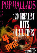 Pop Ballads 120 Greatest Hits Of All Times Music Videos 4 DVD + 1 DVD FREE