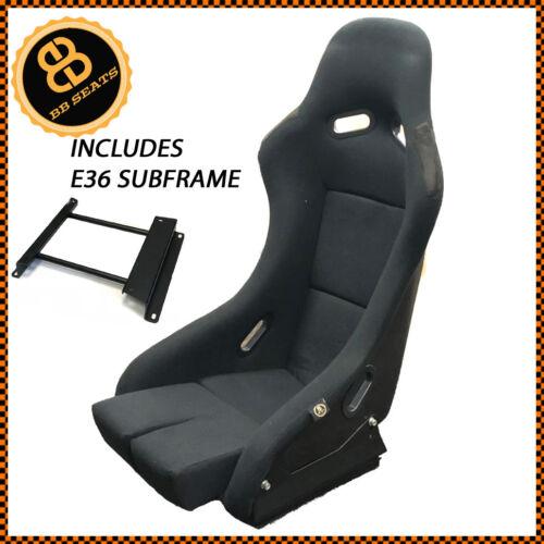Side Mounts BB5 Fixed Fibreglass Narrow Racing Bucket Seat BMW E36 Subframe