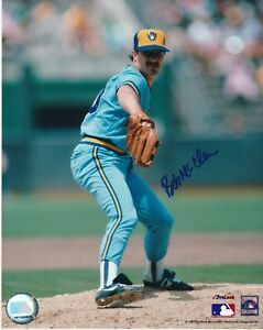 BOB MCCLURE   MILWAUKEE BREWERS   ACTION SIGNED 8x10