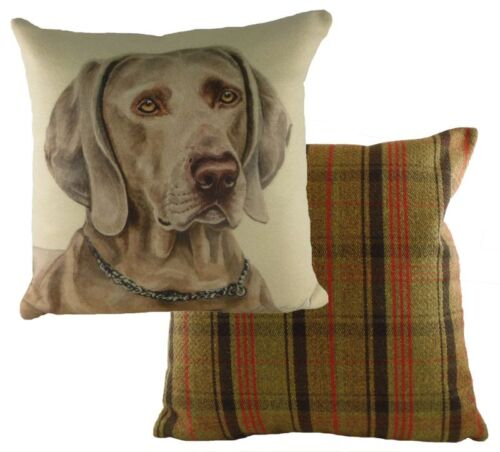Weimaraner Tweed Cushion