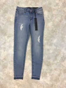 NWT-Cred-Women-039-s-Blue-Light-Wash-High-Rise-Elle-Skinny-Ankle-Jeans-Sz-1