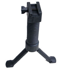 Black  2 in 1 Fore Grip Bipod Quick Release RISfor Airsoft Rifle Hunting New