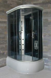 Box Doccia Vasca Multifunzione.Dettagli Su Cabina Idromassaggio Con Vasca Multifunzione 120x80 Cm Box Doccia Full Optional