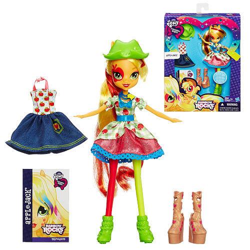 My Little Pony Equestria Girls Rainbow Rocks Applejack Doll with Fashions 5+
