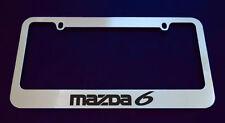 2 MAZDA 6 LICENSE PLATE FRAME, CUSTOM MADE OF CHROME 2 Frames