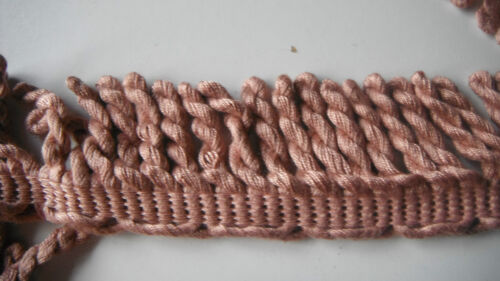 BULLION FRINGE  PINK  TOP QUALITY 5 CM  UPHOLSTERY CURTAIN TRIM PER MTR