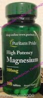 Puritan's Pride Magnesium 500 mg/250 Tablets