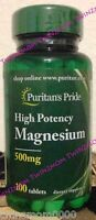 Puritan's Pride Magnesium 500 mg/250 Tablets Nutrition