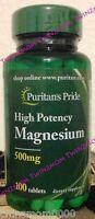 Puritan's Pride Magnesium 500 mg/250 Tablets Nutrition