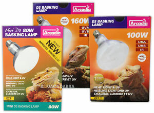 ARCADIA-D3-REPTILE-BASKING-LAMP-BULB-HEAT-LIGHT-UV-UVB-MERCURY-VAPOUR
