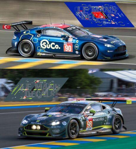 Calcas Aston Martin Vantage GTE Le Mans 2018 1:32 1:43 1:24 1:18 87 slot decals